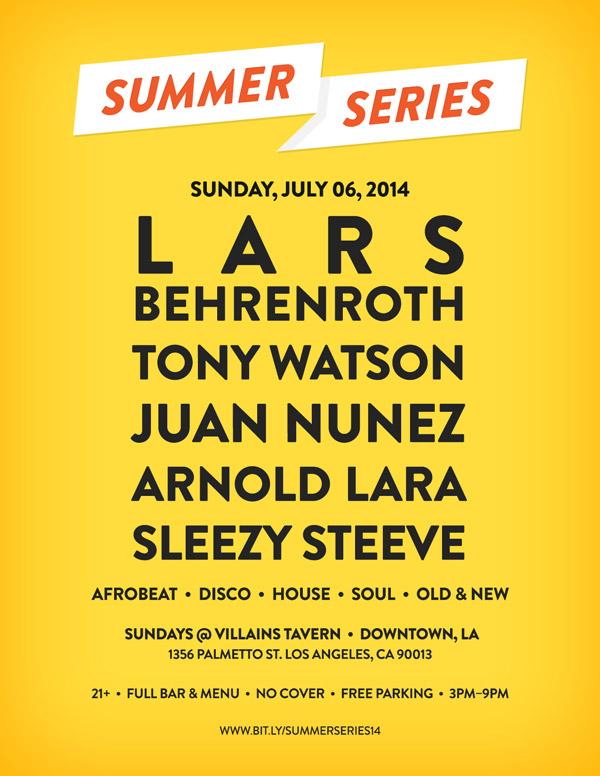 Lars Behrenroth at Summer Series in Los Angeles