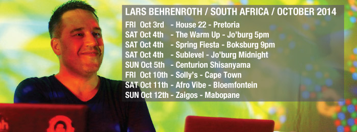 Lars Behrenroth South Africa Tour October 2014