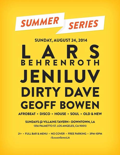 Lars Behrenroth at Summer Series in Los Angeles