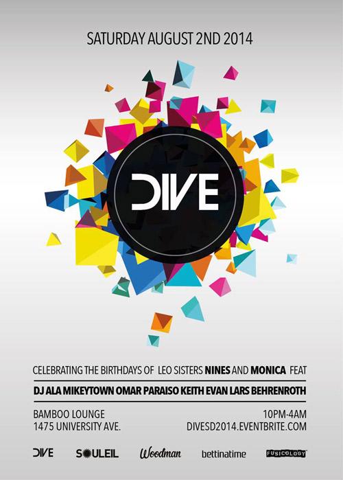 Saturday, August 2nd - Lars Behrenroth at DIVE in San Diego